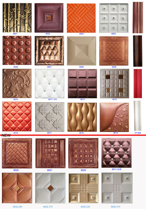 Leather 3d wall panel decoration wall panel decor walls and ceiling  decorative factory instead of wall