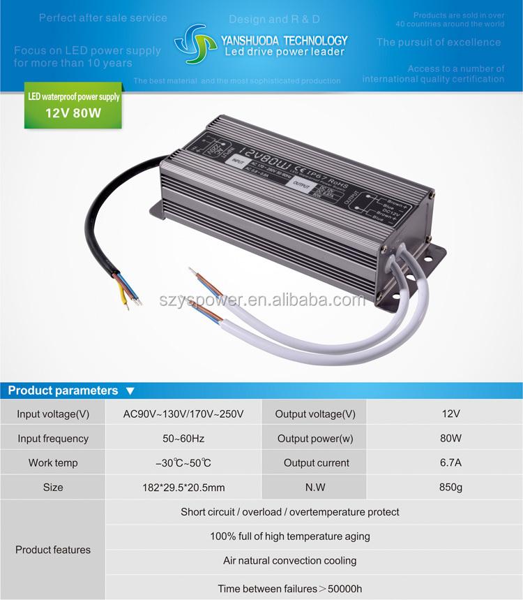 Voltage Stabilizer/ballast 220v 12v 80w Led Driver Power Supply ...