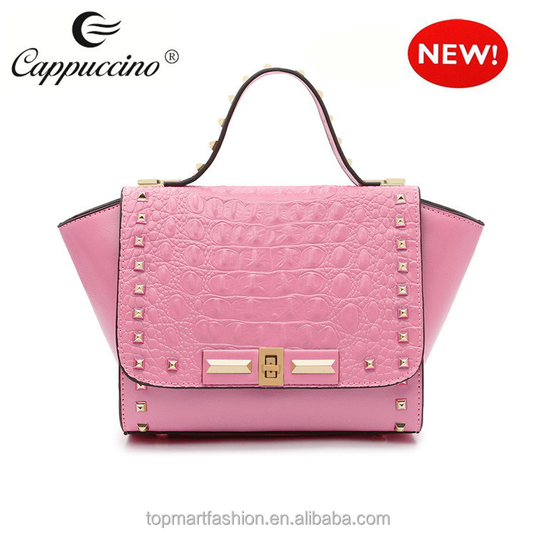 Wholesale 2014 lstylish Studded large designer bags woman handbag ...