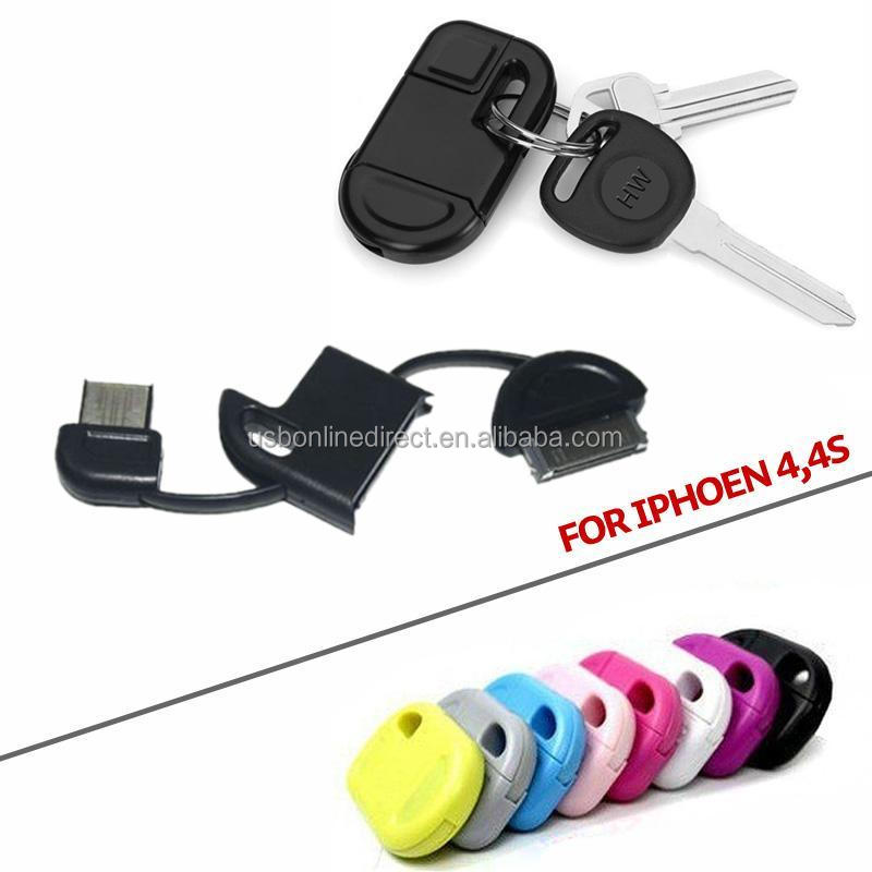 30-pin To Usb Keychain Data Sync Cable Charger Connector For ...