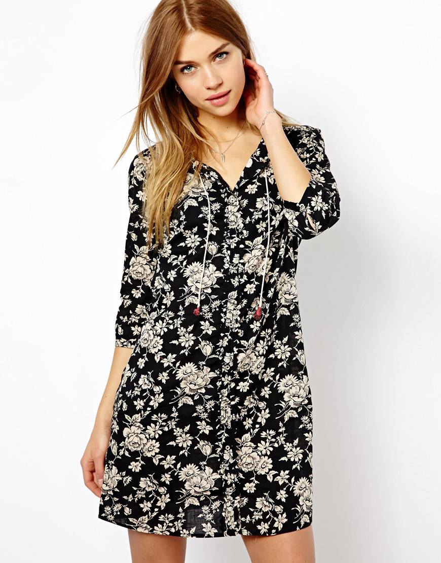 smart casual floral dress