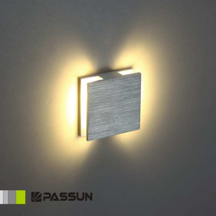 2015 led stair wall lamp square aluminium 1W