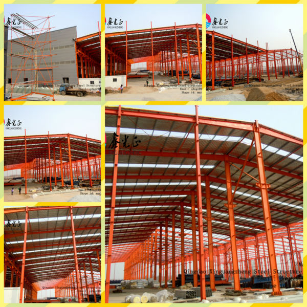 Low cost design Structural Steel Frame Warehouse steel farm warehouse