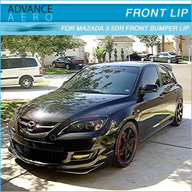 For 07 08 09 Mazda 3 5dr Ms Style Urethane Front Bumper Lip
