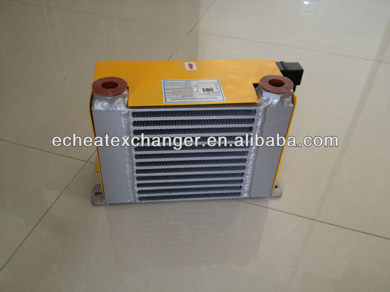 Compact Hydraulic Oil Coolers : Ah aw series hydraulic oil cooler with fan buy