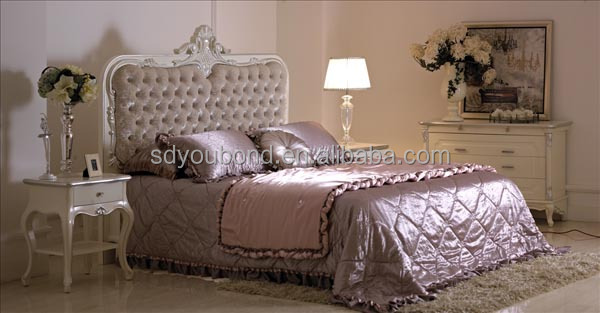 Yb09 High End Factory Manufacture Solid Wood Royal Furniture Bedroom Sets