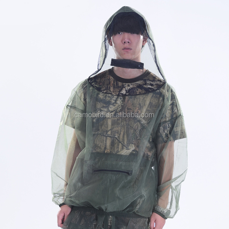Anti Mosquito Mesh Hunting Fishing Clothing Suits Hooded