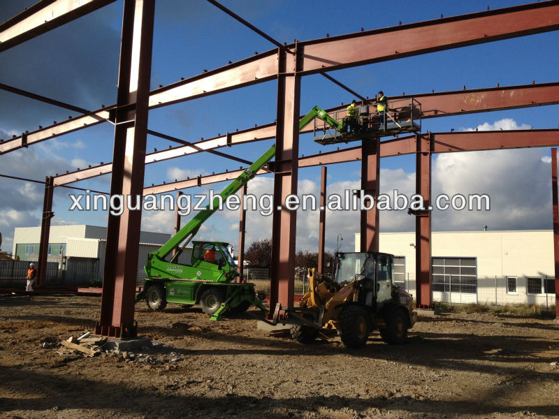 Large-span construction steel frame industrial building warehouse