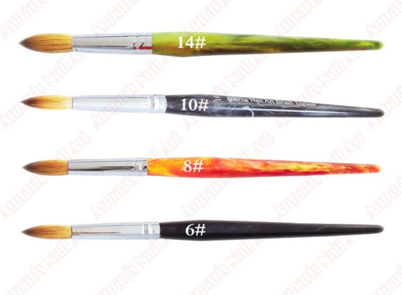 6#/8#/10#/14# Nail Brush Kolinsky Sable Brushes Animal Nail Brush ...