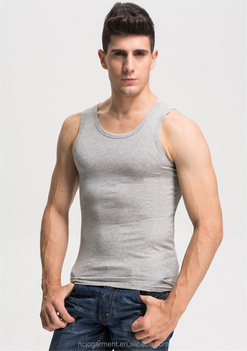 Wholesale Grey Tank Top Muscle Tank Top Oversized Tank