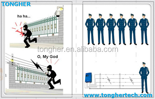 Alarm Electric Fencing For Home Wall Top Anti Climb With
