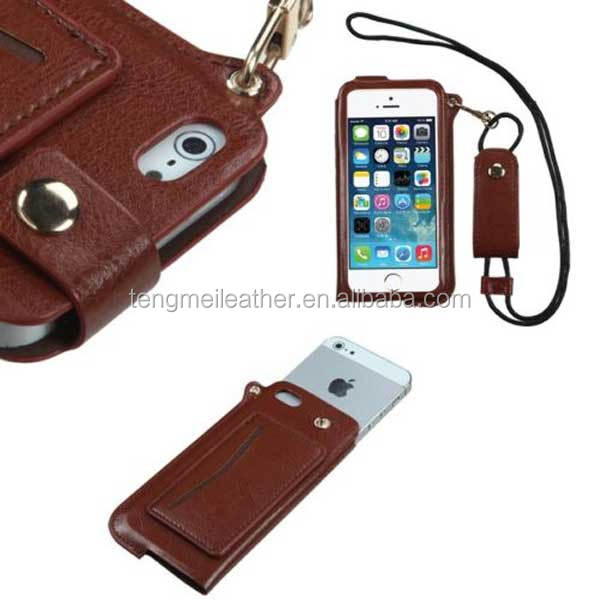 4b7b4f0e87a57d Quilted PU Leather Wallet Wristlet Cross Body Case Cover for iPhone 5/s  Brown
