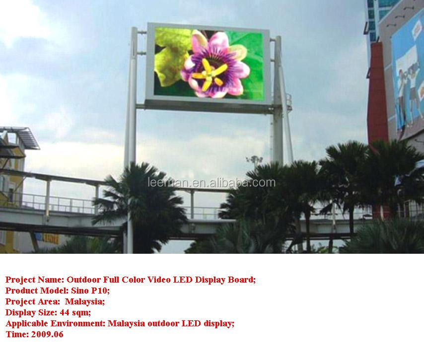 Outdoor Advertising P10 Led Display Screen P10 Outdoor Full Color
