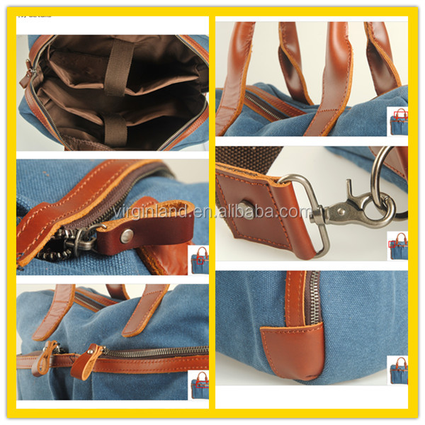 Modern Stylish Rugged Durable Canvas Security Briefcase For Work And Travel