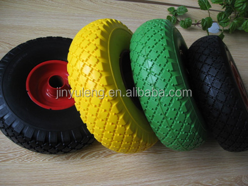 popular cheap solid rubber wheel for lawn mower