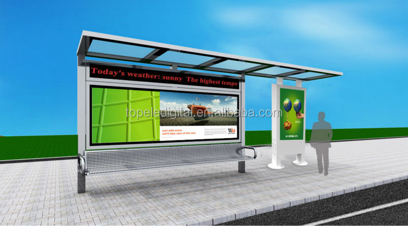 Bus Stop,Street All Weather Outdoor Led Backlight High Brightness ...