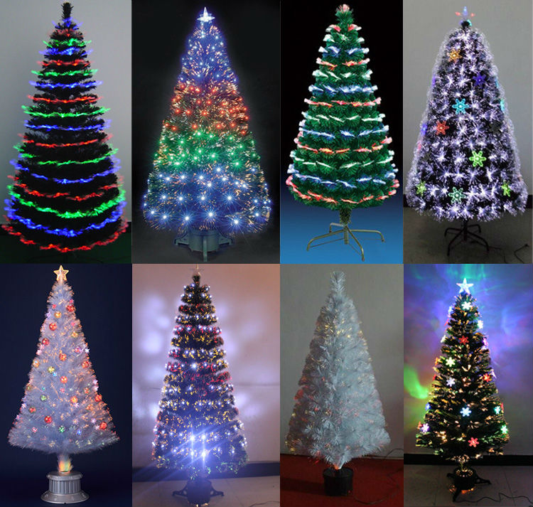 Real Christmas Trees Lowes: Wholesale 5ft(150CM) 4 Kinds Of Color Lights Fiber Optic 7