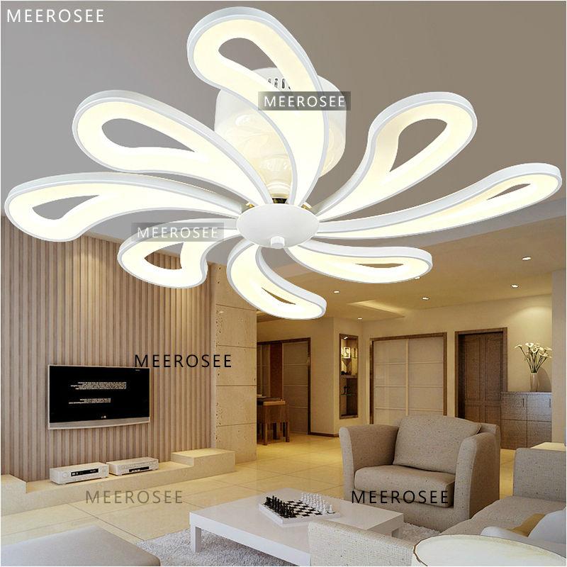 Latest Style Acrylic Lighting Design Luxury Ceiling Fan