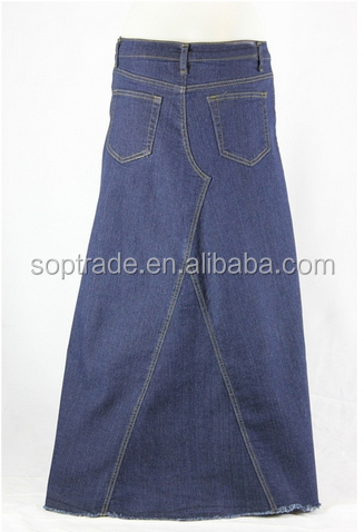 Hight waisted plus size denim maxi indian long skirts