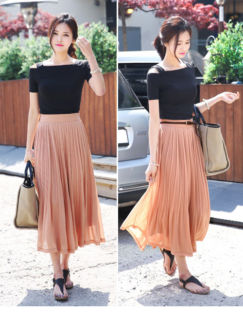 Images Of Long Pleated Black Skirt All About Fashions