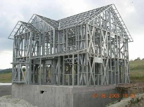 Prefabricated low cost light gauge steel framing buy for Prefab framing