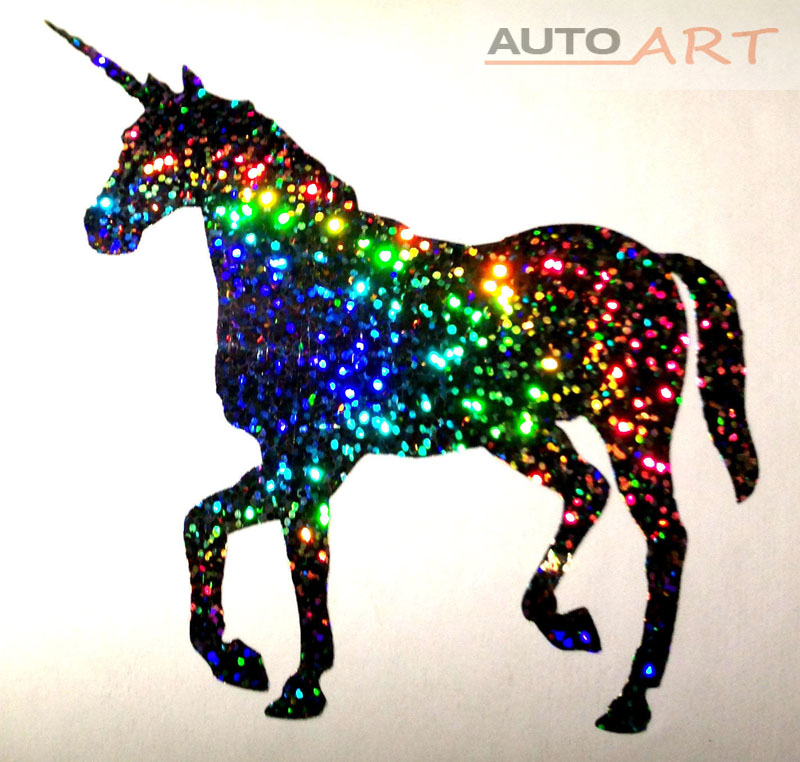 Design art fantasy magical car vinyl unicorn decal