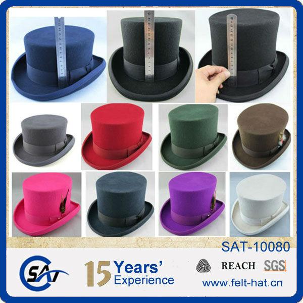 05a3315fdd5 Mossant autumn winter fashion mens black fedora wool felt hat cowboy hat  jazz hats large brim