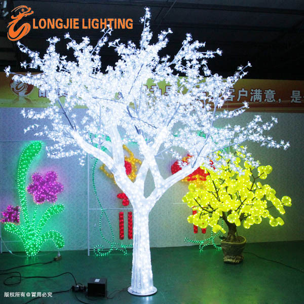 Outdoor White Crystal Led Cherry Blossom Tree Illumination