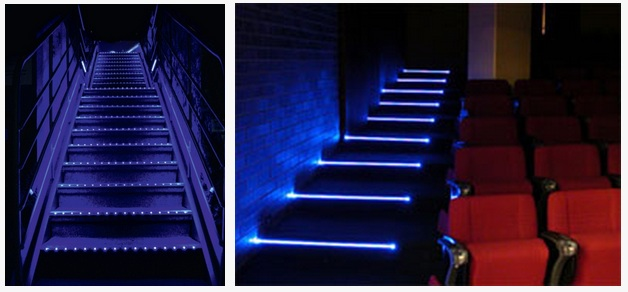 LED Strip Light Aluminum Profile For Cinema/bus Step Or Stairs Nosing