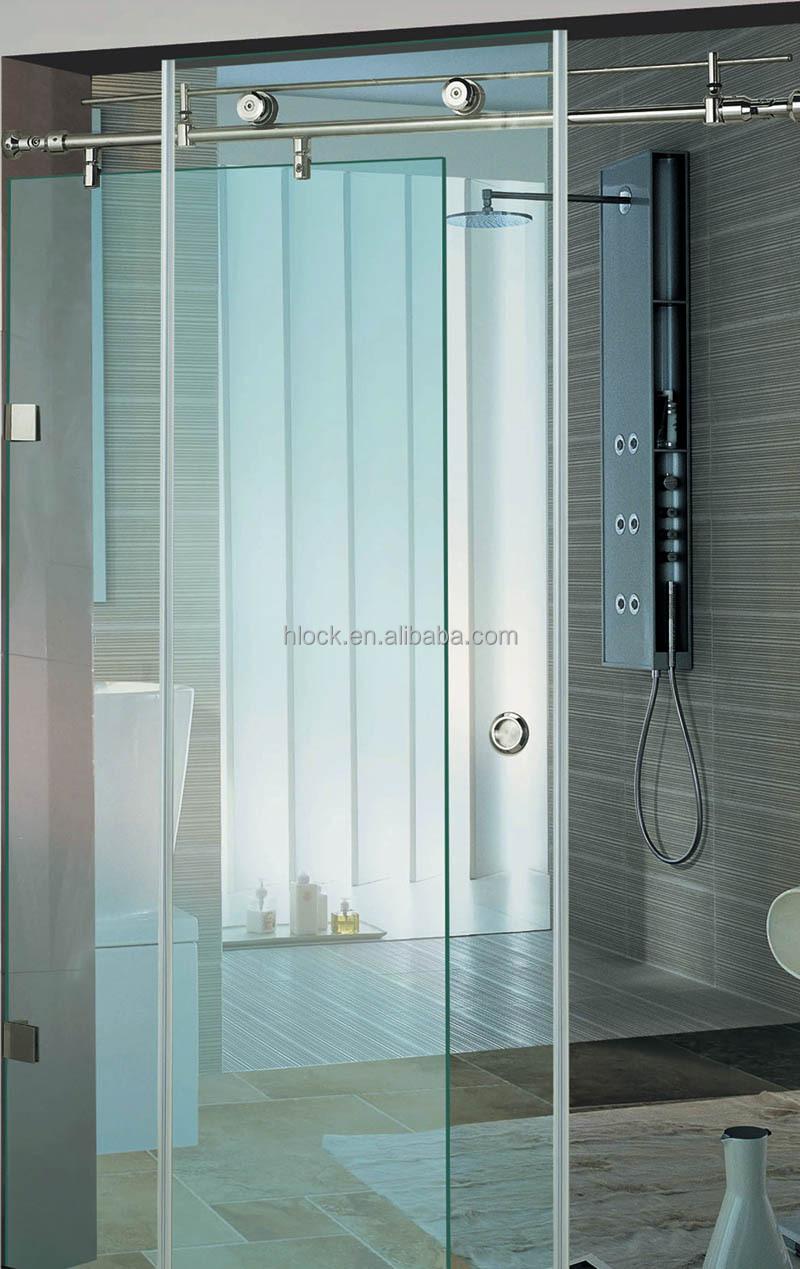 Stainless Steel Sliding Glass Frameless Shower Doors
