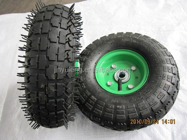 popular square pattern pneumatic rubber wheel for wheelbarrow air wheel ruber tyre steel rim