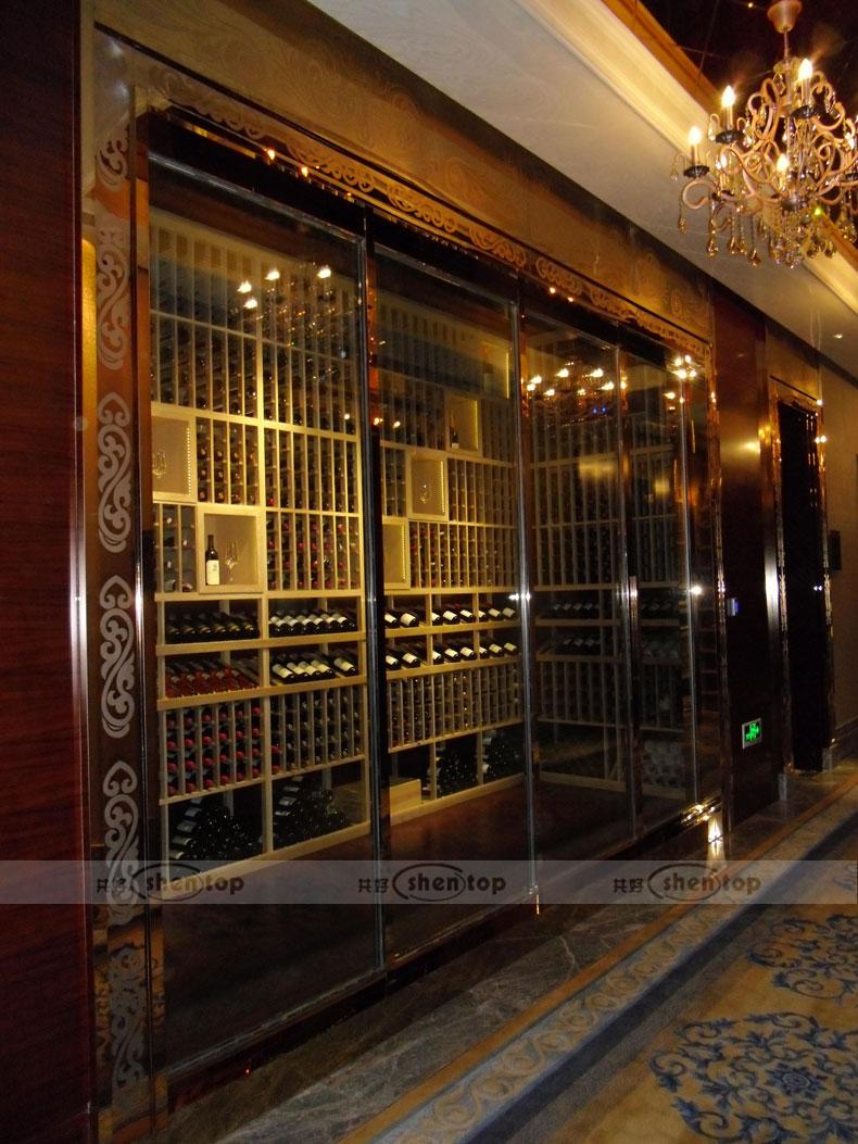 Shentop Furniture Wine Cellar Wine Rack Cabinet Wall