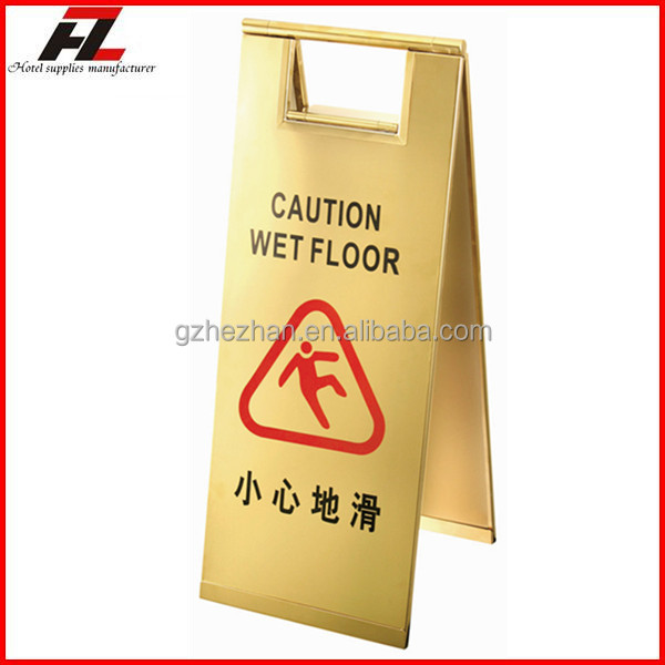 stainless steel folding caution wet floor sign stand caution a