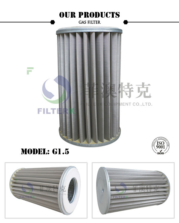 FILTERK G1.5 20 Micron Pleated Natural Gas Strainer Cartridge