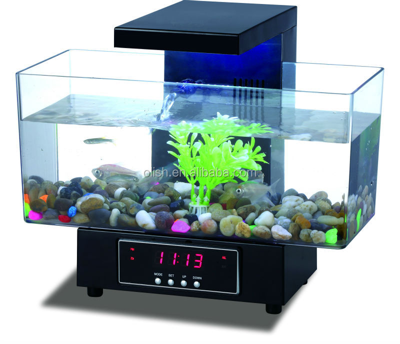 Multi-functional Usb Fish Tank Desktop Aquarium With Fm Radio ...