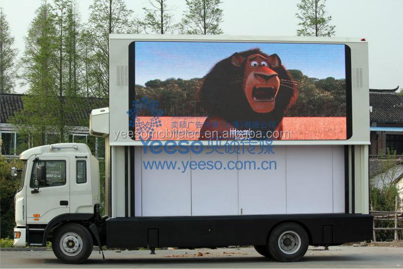 Yeeso Multi-functional Van Outdoor Mobile Billboard Led Ad Vehicle ...