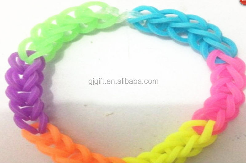 2014 Novelty kids craft silicone rubber loom bands