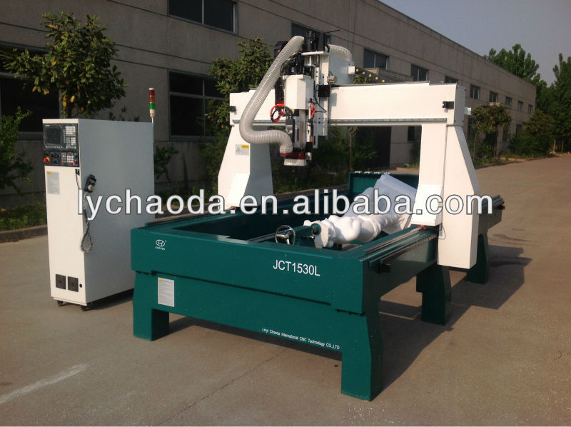 China 3d EPS foam caving cnc router with large rotary for Christmas animal foam sculpture