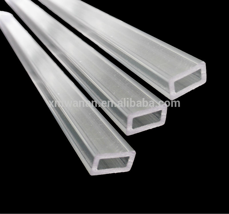 Pc or pmma pipe transparent plastic rectangular tube buy