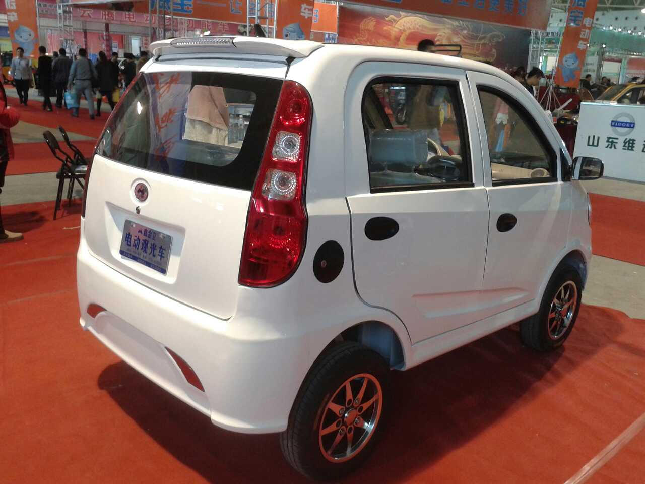 White smart 3 4 seater electric car import price