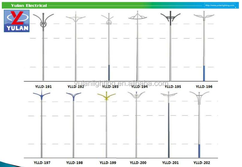 Q235 Commercial Lamp Post/modern Pole Light/polygonal Pole - Buy ...