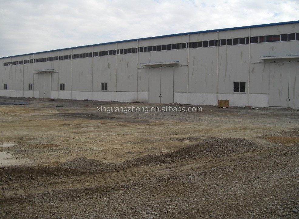 Wide Span Pre-engineering Prefabricated Steel Warehouse with ISO9001:2008 Certification