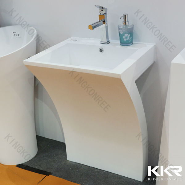 Kkr solid surface bathroom face wash basin small size hand for Bathroom wash basins designs