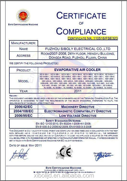 Ce Certificates Electrical Ac Air Cooler Catering Cooling