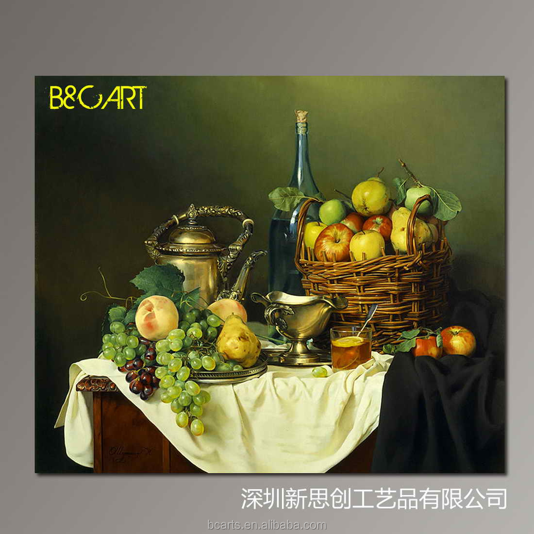 In door wall decoration still life fruit canvas oil for Canvas painting for dining room