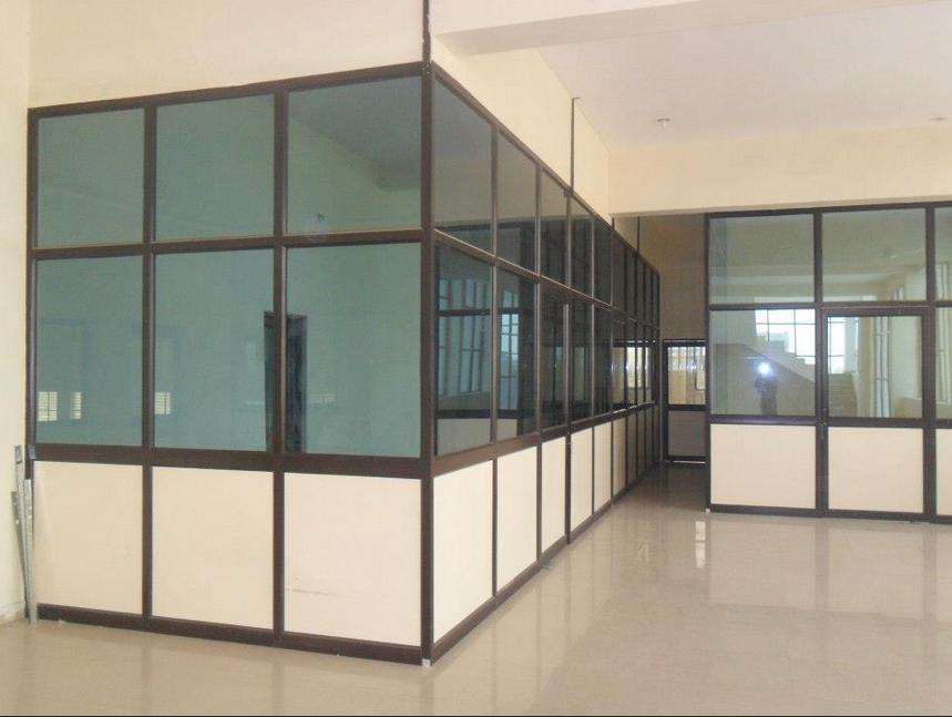 customized anodize aluminum frame modular office partition aluminum office partitions