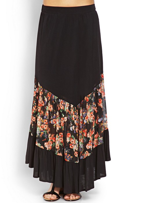 Long Skirt Classic Latest Skirt Design Of Long Skirt Black Chiffon ...