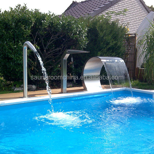 Stainless Steel Water Feature Swimming Pool Dolphin Waterfall Fountain
