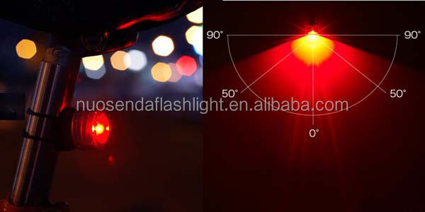 Cateye SL-LD130 Red Light LED Bicycle Taillight Warning Lamp (2 x CR2032)-Black