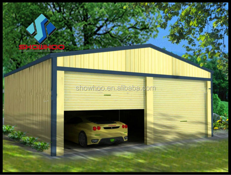 portable flat roof steel structure car garage for two car parking buy flat roof steel garage. Black Bedroom Furniture Sets. Home Design Ideas